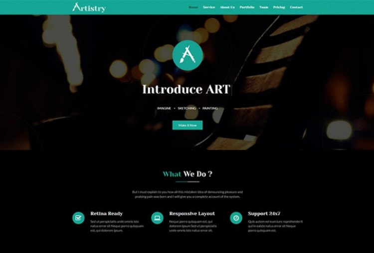 Artistry HTML Template