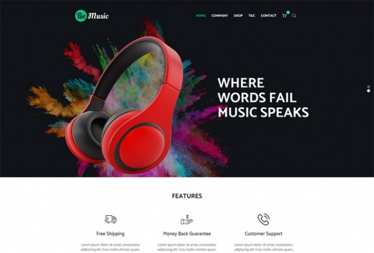 Be Music html template