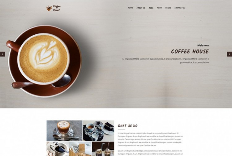 Cafeteria HTML Template