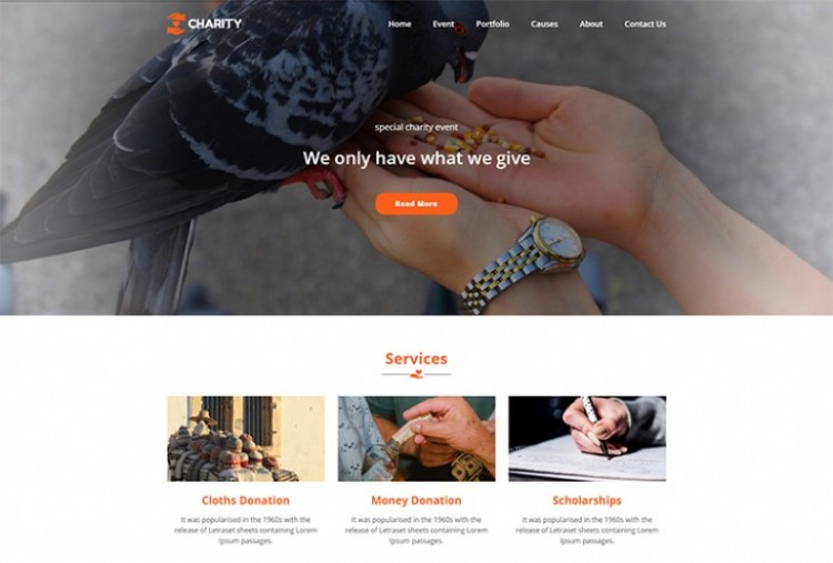 Charity Website HTML Template