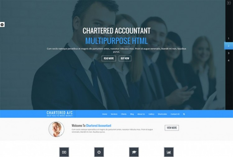 Chartered Accountant HTML Template