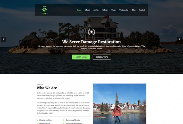 Damage Restoration HTML Template
