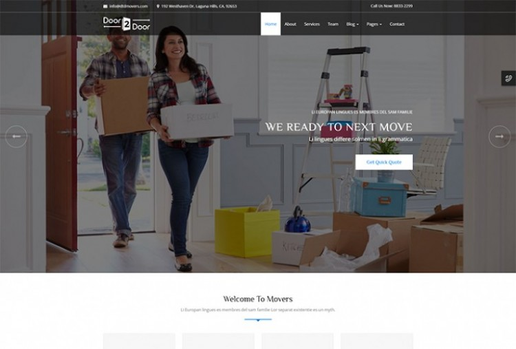 Door To Door HTML Template