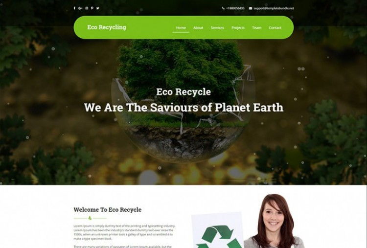 Eco Recycling HTML Template