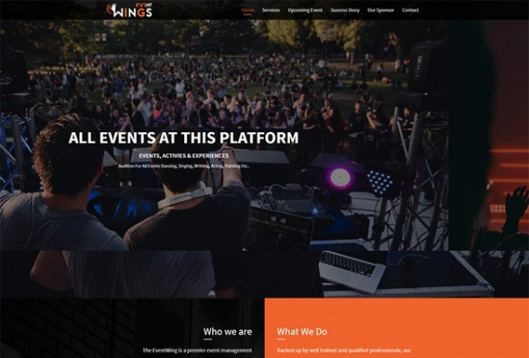 Event Wings HTML Template