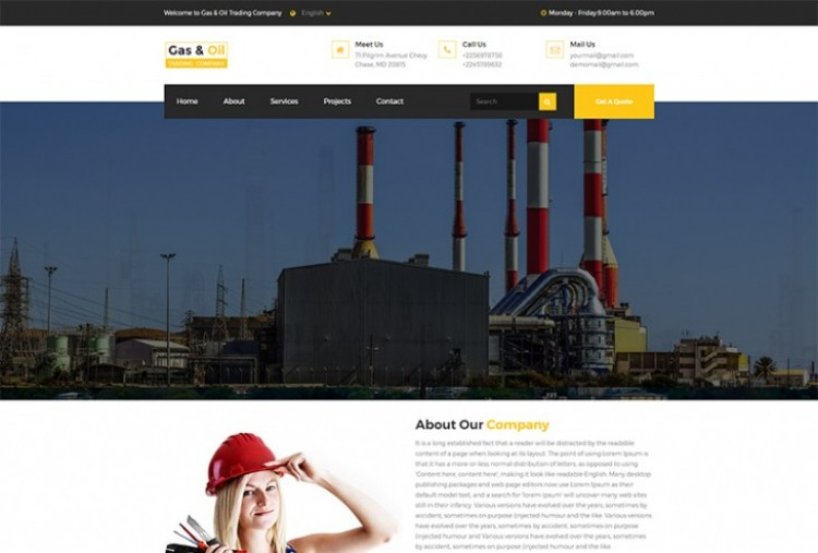 Gas Oil Trading HTML Template