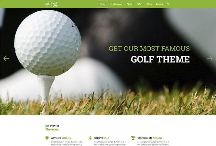 Golf Club HTML Template