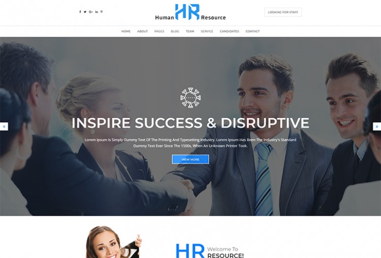 HR HTML Template