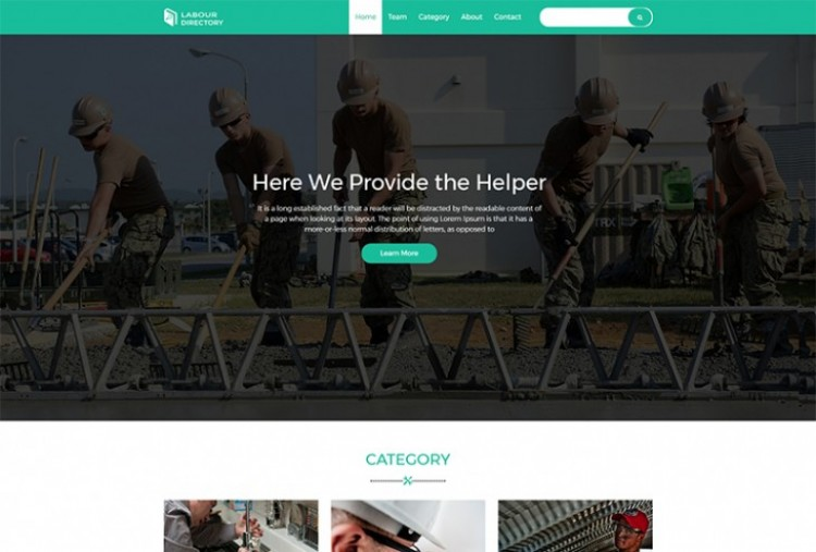 Labour Directory HTML Template