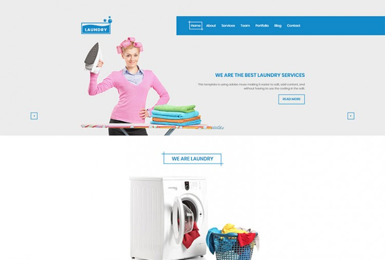 Laundry HTML Template
