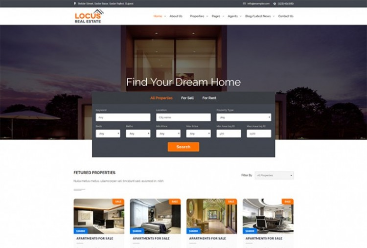 Locus Real-estate HTML Template