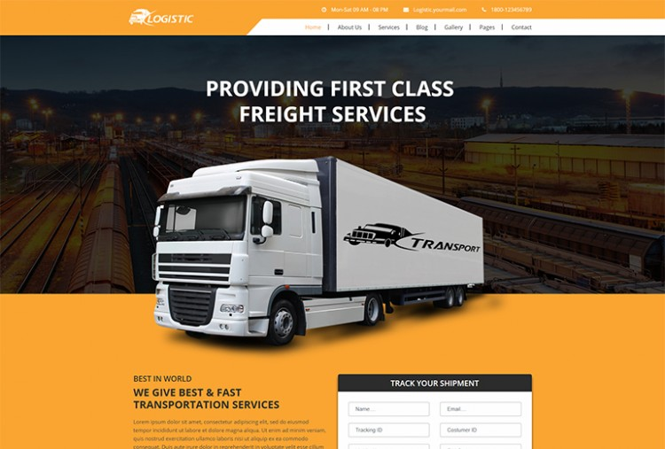 Logistic Website HTML Template
