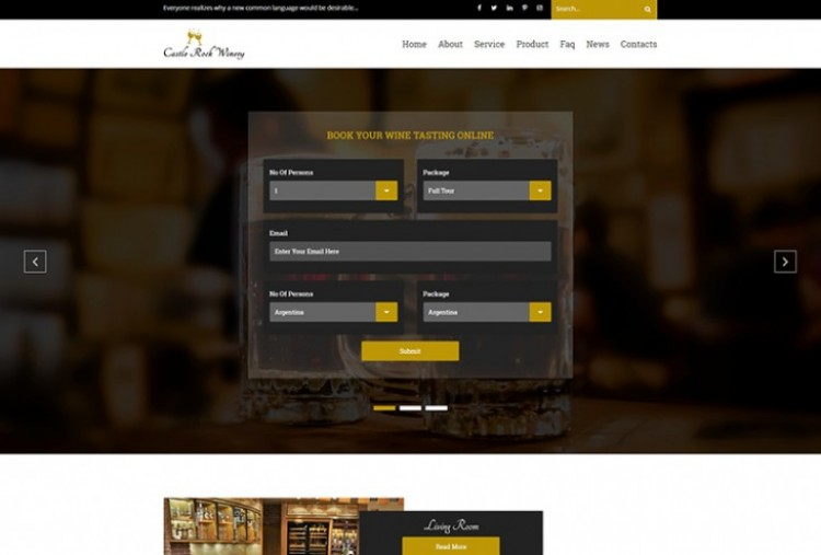 Luxury Wine HTML Template