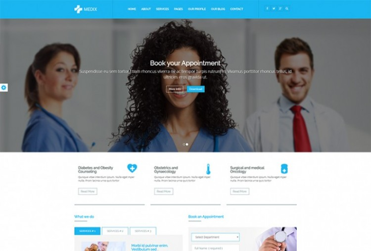 Medical & Health Care Website HTML Template
