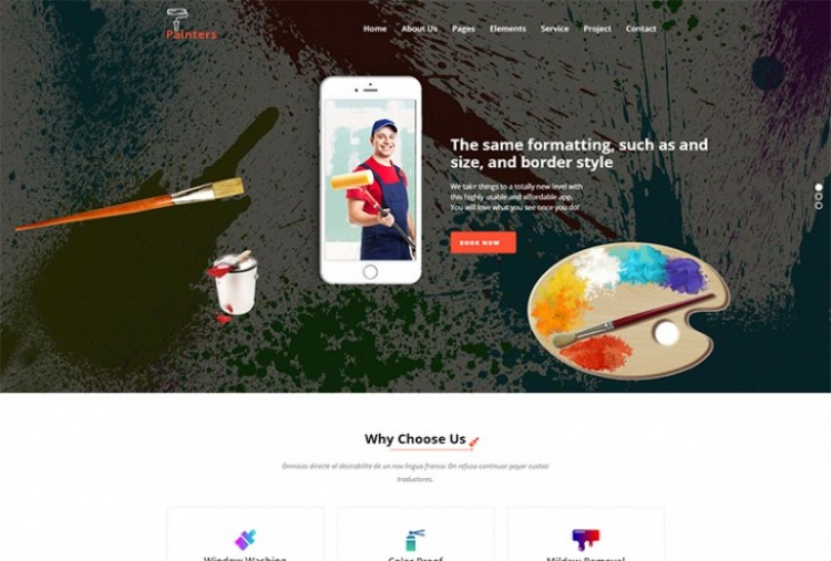 Painter Website HTML Template