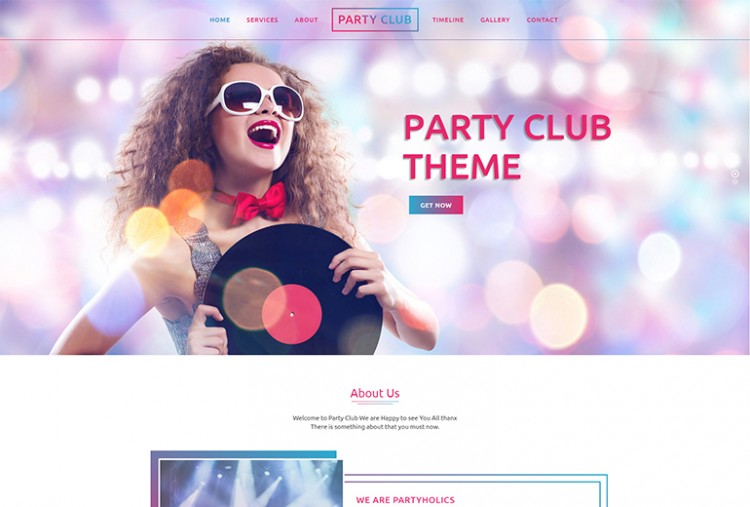 Party Club HTML Template