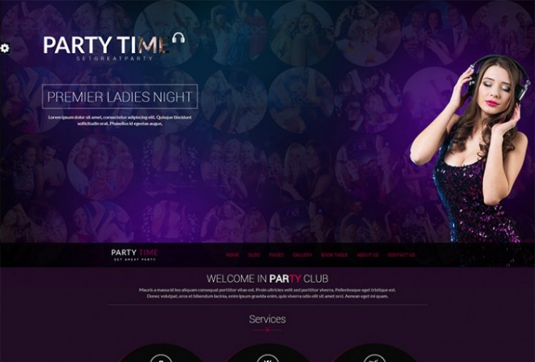 Party Time HTML Template