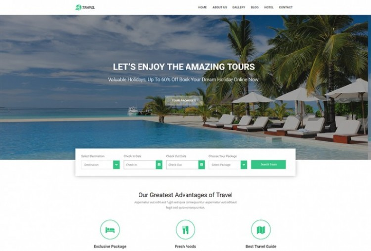 Tours and Travel Website HTML Template