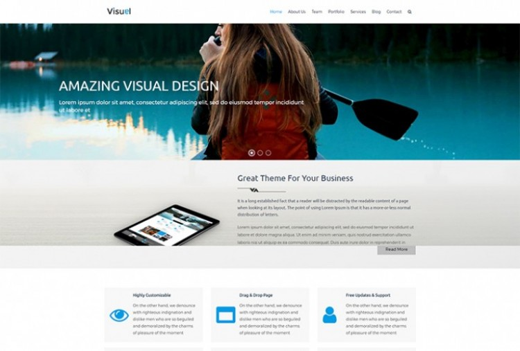 Visual HTML Template