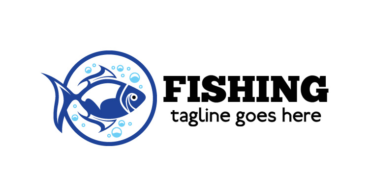 Water Fish Vector Logo