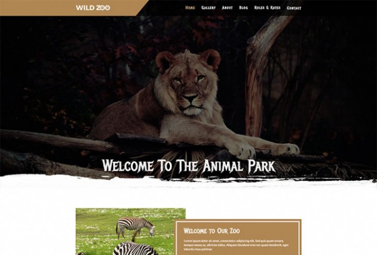 Wild Zoo HTML Template